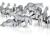 13 N Scale Horses 3d printed This is a render not a picture