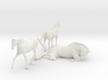 O Scale Horses 3 3d printed This is a render not a picture