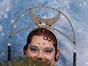 Art Deco Moon Headpiece 3d printed Frame Full decorated