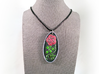 Rose Pendant 3d printed does not include cord and fastenings.