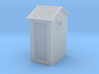 HO Great Northern Single Privy with Windows 3d printed Shapeways Render
