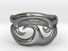 Tribal wave ring 3d printed