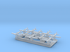 1/1800 WWII Inline-engined fighters 3d printed