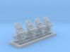 1/350 Royal Navy MKIV POM POM Directors x4 3d printed 1/350 Royal Navy MKIV POM POM Directors x4
