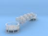 1-32_S8B_Siren_rings 3d printed