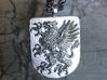 Griffin Heraldic Coat of Arms Pendant. 3d printed Griffin Heraldic Coat of Arms Pendant in Silver