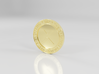 XRP Lapel Pin in Solid Gold 18K 3d printed