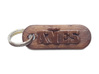 AÑES Personalized keychain embossed letters 3d printed
