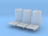 1:8 BTTF DeLorean Red Capacitors 3d printed