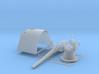 1/35 SMS Emden 10.5cm/40 SK L/40 Shielded Gun x1 3d printed 1/35 SMS Emden 10.5cm/40 SK L/40 Shielded Gun x1