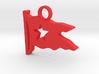 Titanic Pendant: White Star Pennant 3d printed