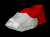 Iron Man Boot (Heel with sole) Part 1 of 4 3d printed CG Render (What's highlighted in Red will be printed)