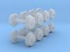 """N-gauge 2'9"""" 3-hole disc wheels 3d printed"""
