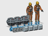 SPACE 2999 1/144 ASTRONAUT DIORAMA SET 3d printed Render of the current 3D file.