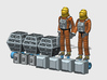 SPACE 2999 1/93 ASTRONAUT SET 1 3d printed Render of the current 3D model.