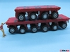 HO/1:87 spmt set 4+6 axles (without ppu) 3d printed painted & assembled