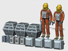 SPACE 2999 1/48 ASTRONAUT TWO SET 3d printed Render of the current 3D file.