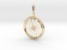 Bicycle Wheel Pendant 3d printed