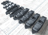 1/600 WW2 Royal Navy Boat Set 3 with Mounts 3d printed 1/600 Scale WW2 RN Boat Set 3 with Mounts