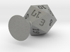 d20 with sprue for mold making 3d printed