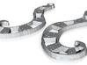 :Stripey Tentacles: Earrings 3d printed