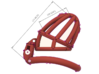 """Cherry Keeper """"Headlock"""" Cage - Long Wide 3d printed"""