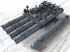 """1/48 Royal Navy 21"""" Quad Torpedo Tubes x1 3d printed 3d render showing product along with a MKVIII 21"""" Torpedo (Not included)"""