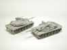 MBT-70 (KPz-70) Main Battle Tank Scale: 1:144 3d printed