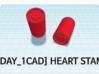 [1DAY_1CAD] HEART STAMP 3d printed