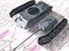 1/144 German Pz.Kpfw. VI Ausf. B (P) Tank 3d printed 3d render showing product parts