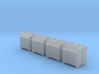 1/48 Royal Navy Quad Vickers Ready Use Lockers x8 3d printed 1/48 Royal Navy Quad Vickers Ready Use Lockers x8