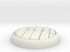 "Planks  1"" Circular Miniature Base Plate 3d printed"