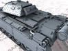 1/72 British Crusader Mk II Medium Tank 3d printed 3d render showing product detail