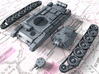 1/144 British Crusader Mk II Medium Tank 3d printed 3d render showing product parts