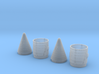 SRB NoseCones 1:48 Pair Complete 3d printed