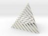 Striped tetrahedron no. 2 3d printed