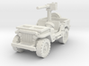 Jeep Willys 50 cal (window down) 1/100 3d printed