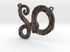 :Serpent Coil: Pendant 3d printed