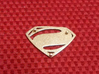 Man Of Steel Emblem - With Pegs 3d printed Back View - Stainless Steel