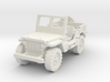 Jeep Willys (window up) 1/100 3d printed