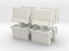 Interlocking traffic barrier (x8) 1/35 3d printed