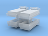 Single Bed (x4) 1/160 3d printed
