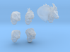 reptile heads 3d printed