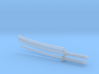 Katana - 1:12 scale - Curved blade - Tsuba 3d printed