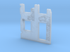 Building wall ruins 1/160 3d printed
