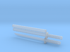 Wakizashi - 1:12 scale - Straight blade - Tsuba 3d printed