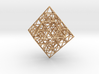 Sierpinski Octahedral Prism 6 cm. 3d printed