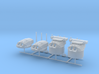 1/700 IJN 41 cm/45 3rd Year Type naval gun Set 3d printed