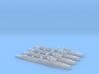 4pk Turbine class WW2 1:2400 destroyer 3d printed