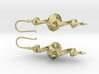 Dragon Earrings with integrated hooks - 5cm 3d printed